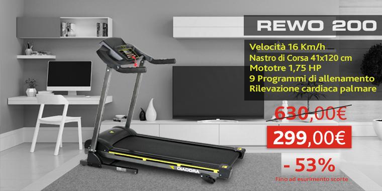 Promo Tapis Roulant Diadora Rewo 200
