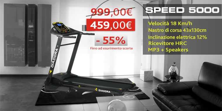 Promo Tapis Roulant Diadora Speed 5000