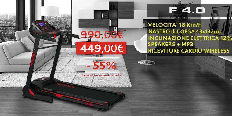 Promo Tapis Roulant fassi f 4.0