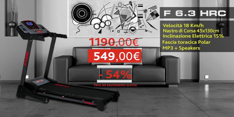 Promo Tapis Roulant Fassi F 6.3