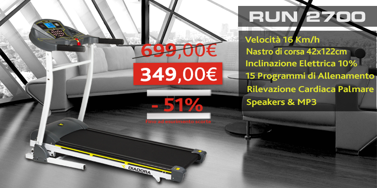 Promo Tapis Roulant Diadora Run 2700 Mp3